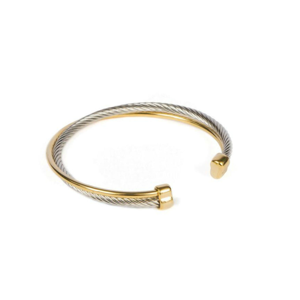 Bracelet - Silver -  Cuff Bracelet with Silver and Gold vermeil - Beksan Designs