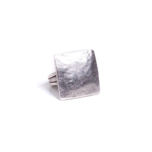 Ring - Zinc - Plain Hammer Square