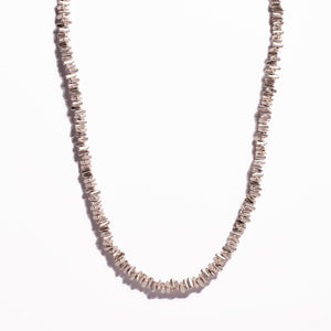 Necklace - Zinc/Silver - Long Triangle Bead