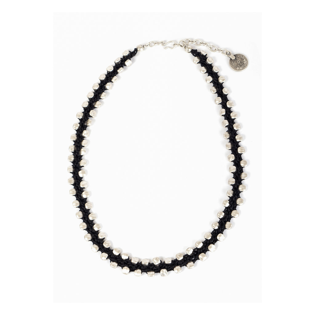 silver bead wood soho necklaces top ebony necklace lazaro mens