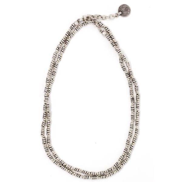 Necklace - Zinc/Silver - Long Bead - Beksan Designs