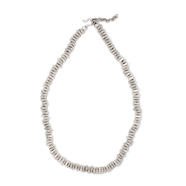 Necklace - Zinc/Silver - Triangle Bead Small - Beksan Designs