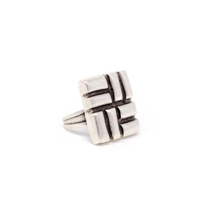 Ring - Zinc - Square - Beksan Designs