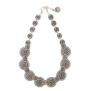 Necklace - Zinc/Silver - Swirl - Beksan Designs