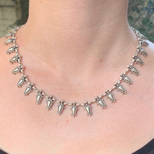 Necklace - Zinc/Silver - Teardrop