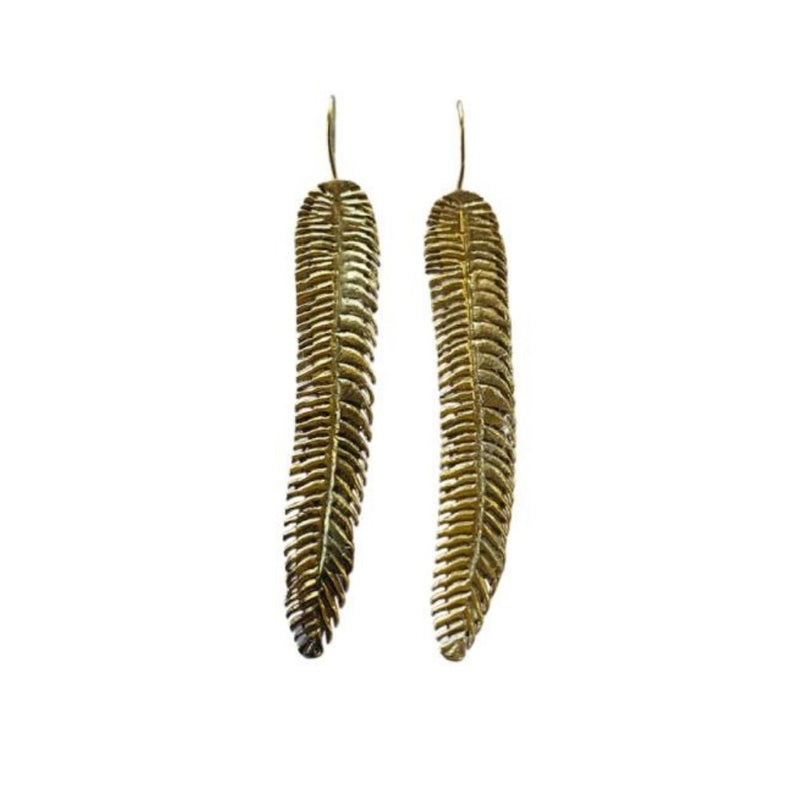Earrings - Antika - Geo Long Leaf Earrings