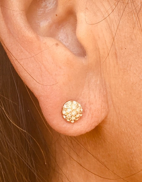Earrings - Antika - Stud GOLD Small Crystal (ONLY available in gold vermeil)