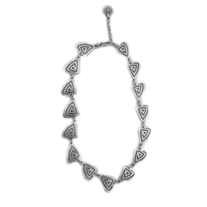 Necklace - Zinc/Silver - Pyramid - Beksan Designs