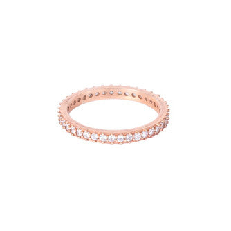 Ring - Crystal - Rose Gold Single Stack - Beksan Designs
