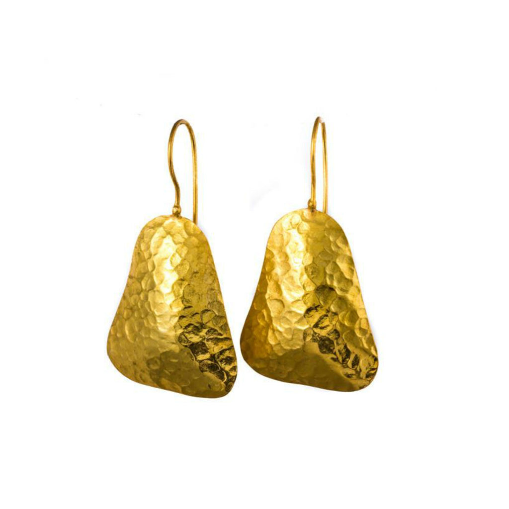 Earrings - Antika - Hammered Geo Shape - Beksan Designs