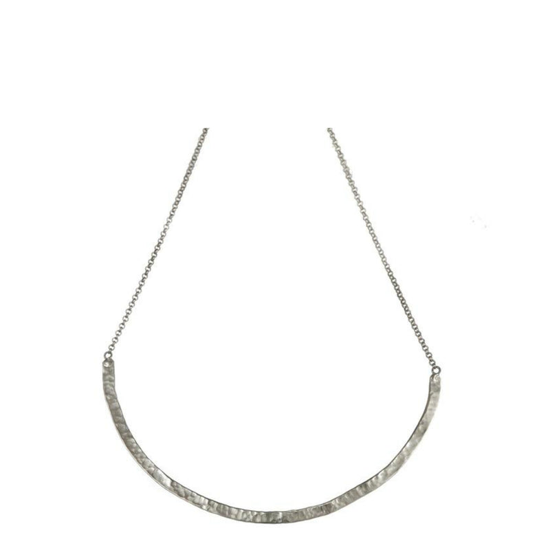 Necklace - Antika - Hammered Half Bar - Beksan Designs