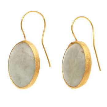 Earrings - Antika - Single Stone Small Moonstone