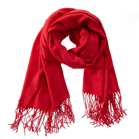 Scarf - Pashmina - Solid Colored Red - Beksan Designs