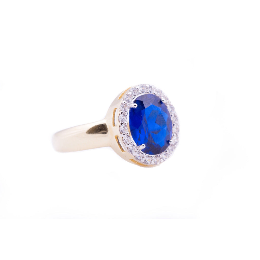 Ring - Sapphire - Blue and White - Beksan Designs