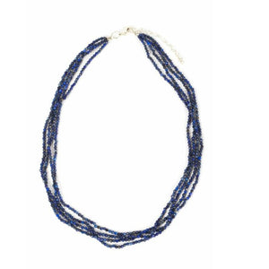 Necklace - Antika - Sapphire Small Bead Multi-Strand - Beksan Designs