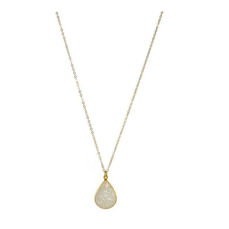Necklace - Antika - Teardrop Druzy - Beksan Designs