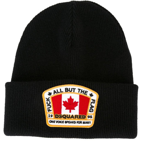 Dsquared2  Canadian flag patch beanie