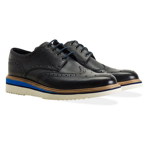 Goodwin Smith - 'Newton' Brouge Shoe - Navy