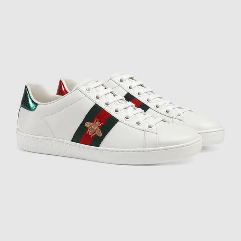 eedbb205d74 Gucci New Ace bee-embroidered trainers – Sir Frederik