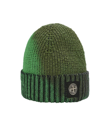 STONE ISLAND Ice Knit Thermo Sensitive Yarn EMERALD to MILITARY GREEN