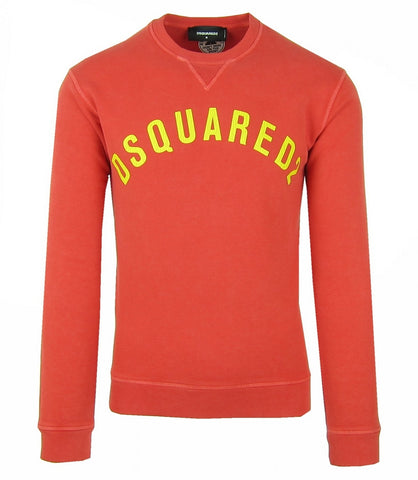 DSQUARED2 S74GU0155 HERREN MEN SWEATSHIRT PULLOVER  STRAWBERRY RED