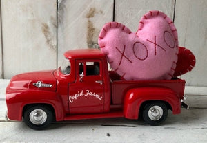 Personalized Truck, Valentine's Truck, Red Farm Truck