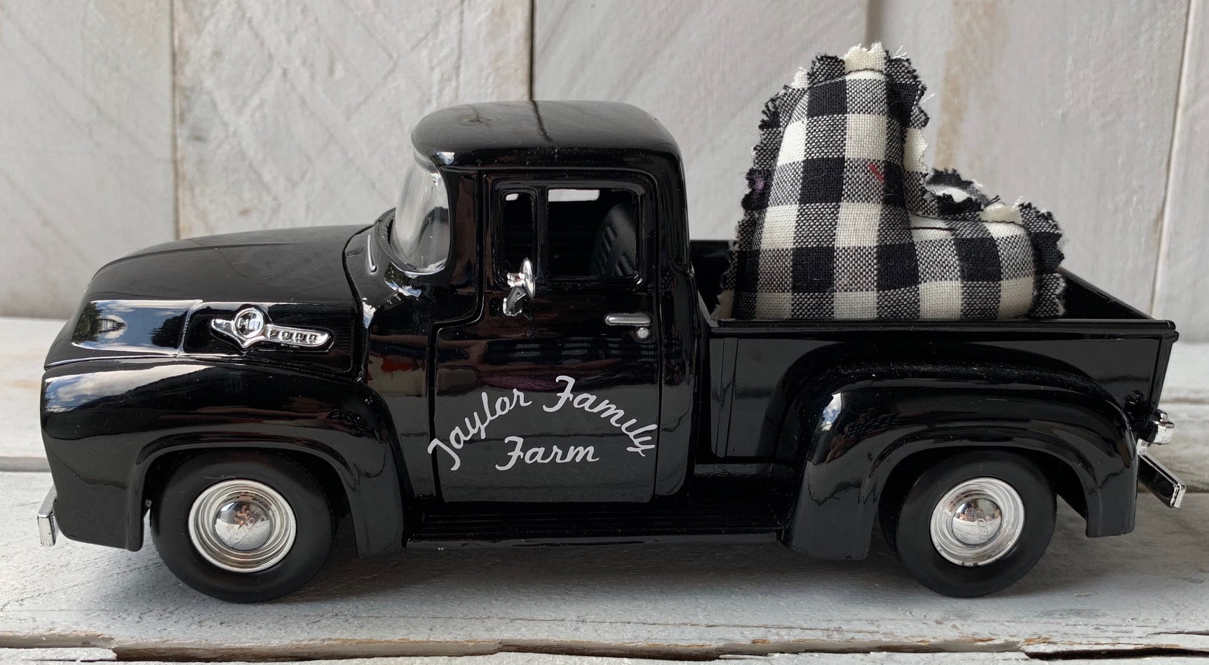 Personalized Farm Truck, Buffalo Check Truck, Buffalo Check Decor, Farm Truck
