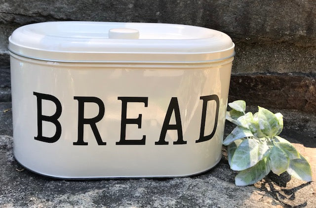 Personalized Large Bread Box, Personalized Bakery Box, Personalized Tin, Farmhouse Bread Box