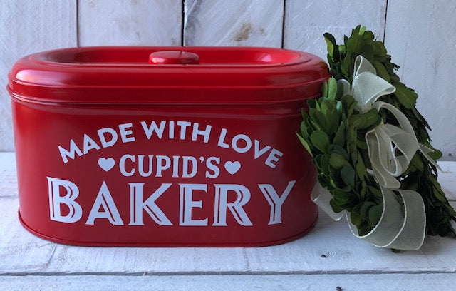 Valentines Cookie Tin, Valentines Gift, Personalized Tin, Personalized Bakery Tin
