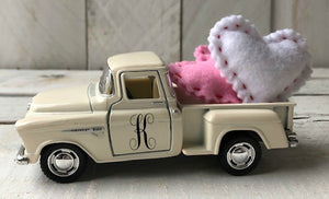 Valentines Truck, Red Truck, Personalized Truck, Farm Truck