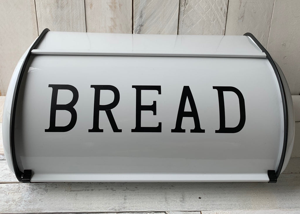 Farmhouse Metal Bread Box, Roll Top Retro Bread Box, Personalized Bread Box