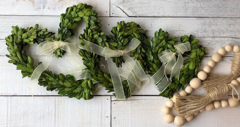 Heart Shaped Boxwood Wreath, Mini Wreath, Boxwood Wreath , Boxwood Accent Wreath