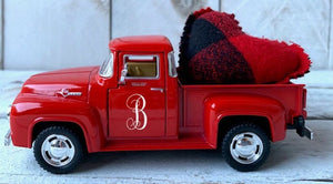 Valentines Truck, Little Red Truck, Farm Truck, Buffalo Check Decor