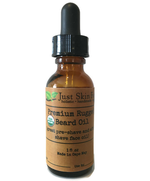 Premium Rugged Beard Oil (certified organic)
