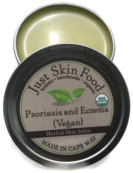 Psoriasis and Eczema Herbal Salve (vegan) - Certified Organic