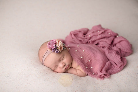 Dusty pink raw edge photography prop layering drape wrap  prop for newborn photography