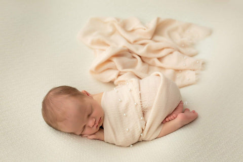 cream tan nude neutral  pearl raw edge photography prop baby layering drape wrap for newborn photography session