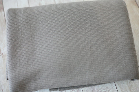taupe greige ribbed texture newborn stretch knit beanbag posing fabric