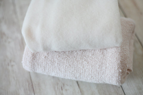 ready to ship soft mohair palest blush pink newborn stretch wrap and sweater knit wrap