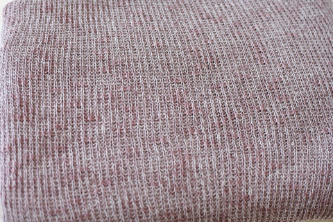 heathered plum purple newborn stretch sweater knit beanbag posing fabric