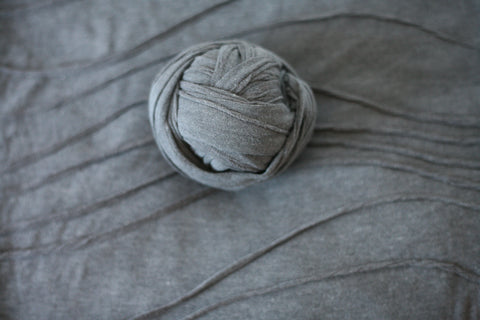 ready to ship dark grey gray  newborn stretch wrap texture knit posing fabric