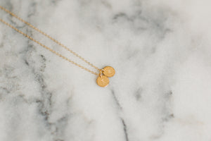 Hammered Multi-Disc Necklace