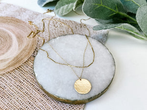 *PREORDER* NB x PS46 Hammered Coin Necklace Set (June Delivery)