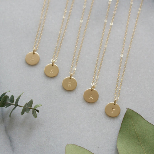 Bridesmaid Disc Necklaces