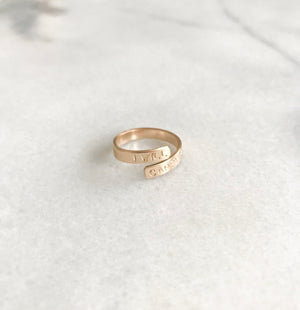PS46 x Lynzy & Co. I Will Carry You Ring in 14K Gold Fill