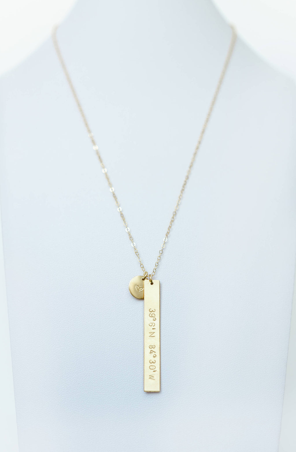Custom Bar + Disc Necklace