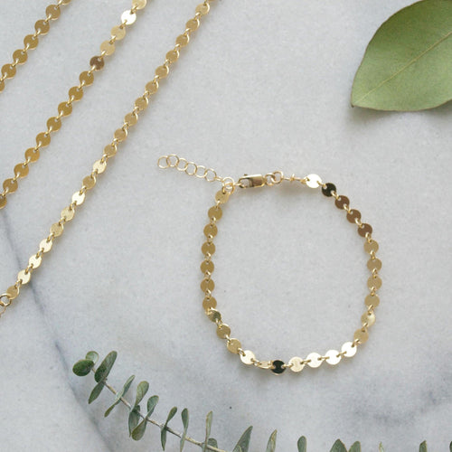 Bridesmaid Coin Chain Bracelets