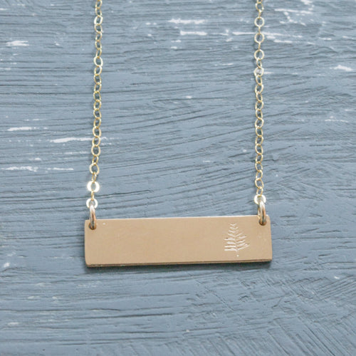 Mini Gold Bar Necklace