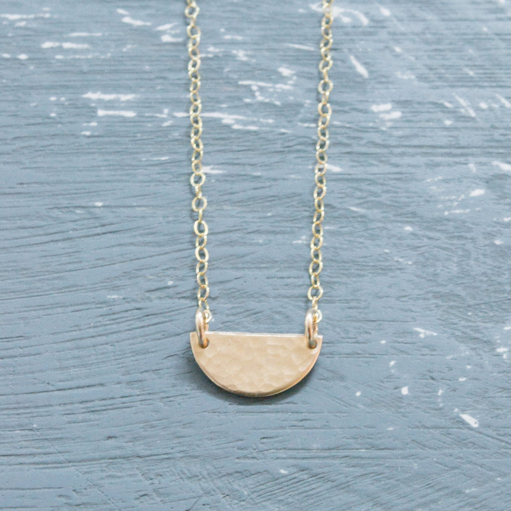 Mini Half Moon Necklace