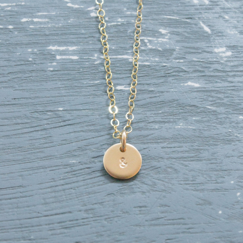Mini Disc Necklace